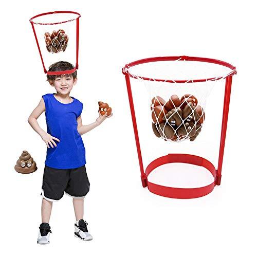 Stirnband Fangbälle Basketballkorb Spiel,Outdoor Basketballkorb Werfen Poop Basketball Spielzeug Set Für Kinder Familie Spaß Im Freien Garten Party Spiele