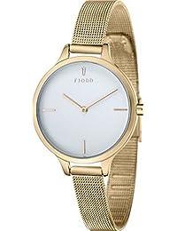 Fjord Analog White Dial Women's Watch - FJ-6027-33