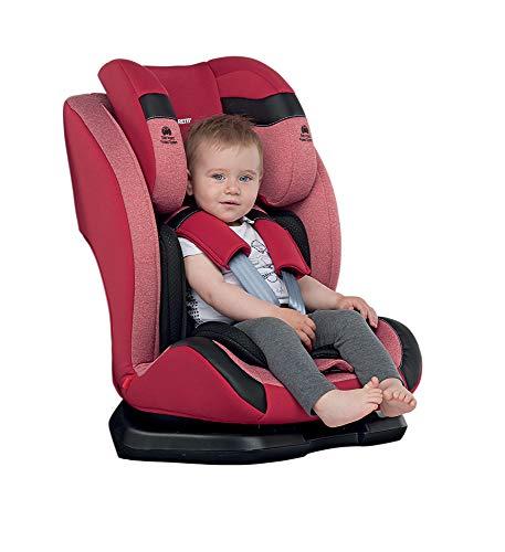 con ISOFIX | da 9 mesi a 12 anni circa KIDUKU Seggiolino Auto per Bambini Gruppo 1//2//3 9-36kg Nero
