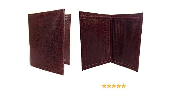 Men/'s brown faux leather wallet