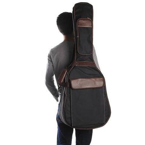 FACILLA® Black Folk Acoustic Guitar Gig Bag Case PU Padded
