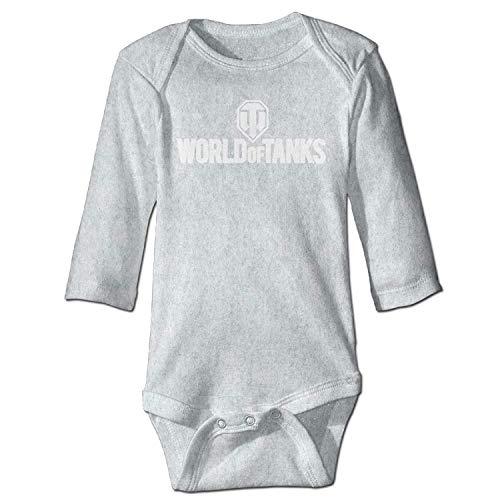 Unisex Newborn Bodysuits World of Tanks War II Boys Babysuit Long Sleeve Jumpsuit Sunsuit Outfit Ash