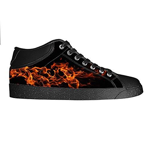 Dalliy regenbogen Men's Canvas shoes Schuhe Lace-up High-top Sneakers Segeltuchschuhe Leinwand-Schuh-Turnschuhe B