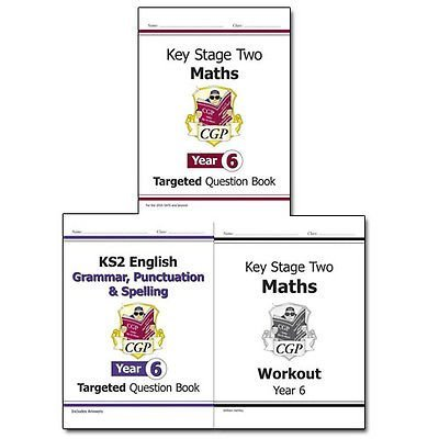 KS2 Targeted Question Book Collection Year 6 New Curriculum 3 Books Bundle (Grammar, Punctuation & Spelling - Yr 6,KS2 Maths Targeted Question Book - Year 6,KS2 Maths Workout - Year 6 (for the New Curriculum): Workout Book)