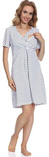 Cornette Damen Stillnachthemd CR6932016 (Muster-08, XL) (8 Lange Ärmel Jugend)