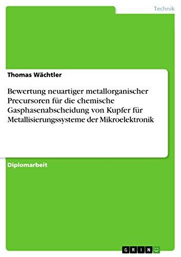 Bewertung neuartiger metallorganischer Precursoren für die chemische Gasphasenabscheidung von Kupfer für Metallisierungssysteme der Mikroelektronik