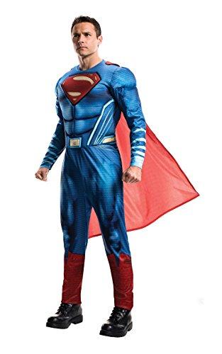 Justice League Kostüm - Rubie's Offizielles Superman-Kostüm für Erwachsene, DC Warner Bros Justice League Superman-Kostüm