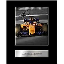 Fernando Alonso McLaren Honda # 1 - Foto enmarcada firmada