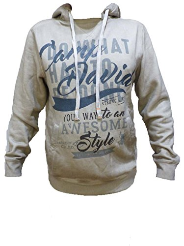 CAMP DAVID SWEATSHIRT SMOGGY WHITE WIT HOOD CCD-1709-3851 M L XL XXL XXXL (XL)