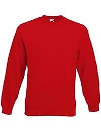 Fruit of the Loom - Sweatshirt 'Set-In' L,Red