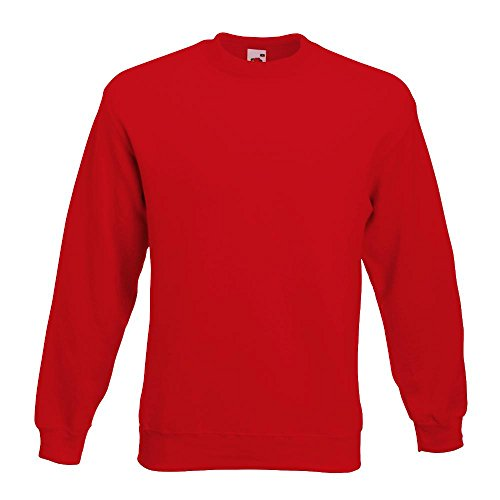 Fruit of the Loom - Sweatshirt 'Set-In' S,Red (Shirt Pullover Männer)