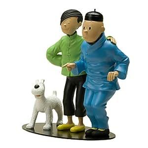 Figurine résine Tintin La fraternité de Tintin et Tchang