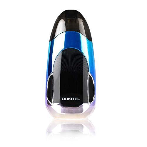 E-Zigarette Drop 2ml 400mAh 1.6 Ohm E Shisha Starter Kit,OUKITEL NANO Authentische Abzeichen Pod System Starter Kit kein Nikotin-Schwarz-Blau