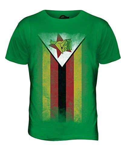 CandyMix Simbabwe Verblichen Flagge Herren T Shirt Grün