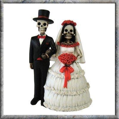y Yours Skelett-Brautpaar, Gothic-Look, 13cm ()