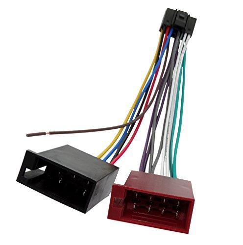 Connettore spina ISO 13 pin 8 Aerzetix 5 per autoradio suono per altoparlanti casse acustiche . precablata fascio universale alimentazione
