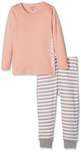 NAME IT Baby-Mädchen NMFNIGHTSET NOOS Zweiteiliger Schlafanzug, Mehrfarbig (Rose Tan), 104