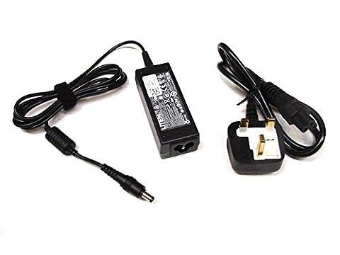 GENUINE Original Dell Inspiron Netzteil Ladegerät Kompatibel Inspiron Mini 910 Mini 9 Mini 10 Mini 1010 Mini 1011 Mini 1012 Mini 1018 Mini 700 Mini 12 Mini 1210 1090 (DUO) & Vostro V90 , 790 1.58A, 30W , Dell P/Links : MNX47 , GJC86 , 450-17031 , Komplett mit UK Mains (Dell Duo)