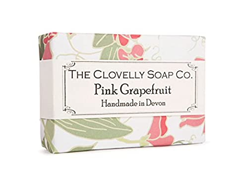 Clovelly Soap Co Natural Handmade Pink Grapefruit Soap Bar For All Skin Types (Uomini Sano Naturale)