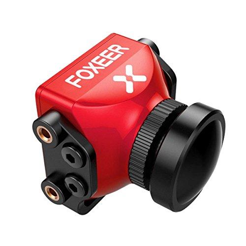 FPV Kamera 1000TVL Foxeer Predator Mini Cam, mit OSD Defog (Reduzieren Sie die Unschärfe, Bild schärfer) 2,5 mm Objektiv 4: 3 Bildschirm Super WDR DC 5V-40V Breiter Spannung für FPV Racing Drone (Predator-drohne Spielzeug)