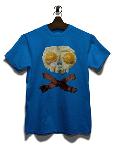 Eggs N Bacon Skull T-Shirt Royal Blau