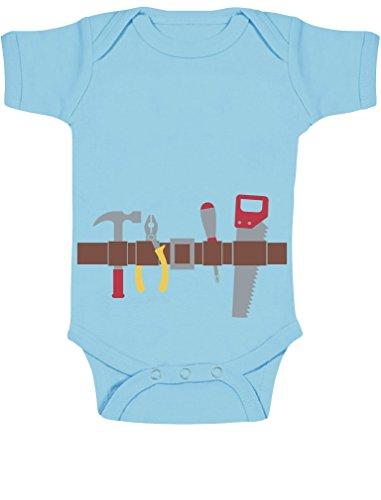 eval und Halloween Kostüm Baby Body Kurzarm-Body 57/68 (3-6M) Hellblau (Schnelle Und Einfache Halloween Kostüm Ideen)