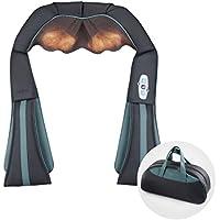 Naipo Schulter Massagegerät Nackenmassagegerät Shiatsu für Nacken Schultern kabellos mit 3D-Rotation Massage Wiederaufladbar Akku Wärmefunktion Handtasche für Rücken Füße für Haus Büro Auto
