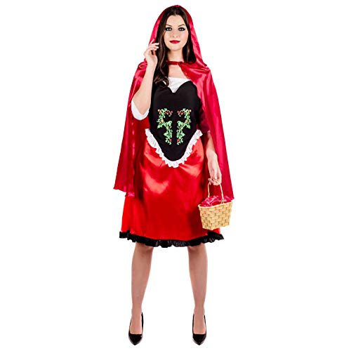 Red Hood Girl Kostüm - Fun Shack Damen Costume Kostüm, Red Riding Hood, Größe S