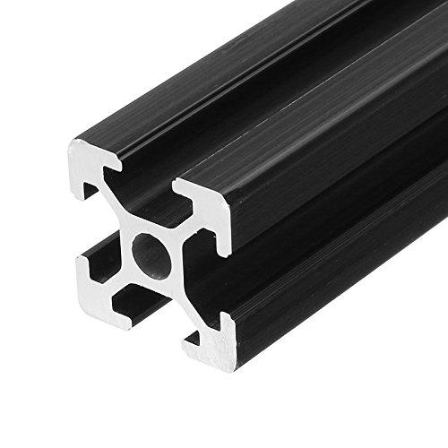 farwind negro anodizado 2020extrusión de perfiles de aluminio marco de ranura 250mm de largo para CNC 3d impresoras Stands muebles DIY