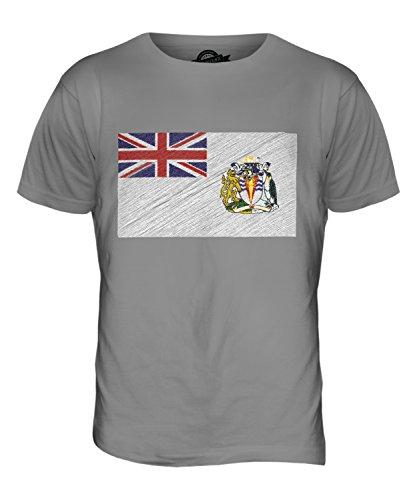 CandyMix Britisches Antarktis-Territorium Kritzelte Flagge Herren T Shirt Hellgrau