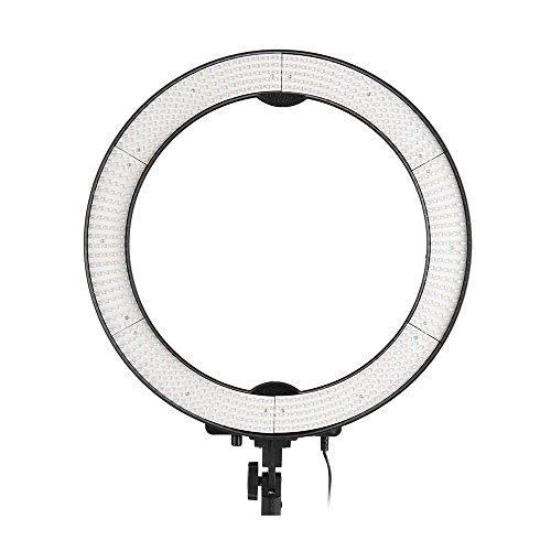 """Andoer® ng-65 C Pro Kamera Foto/Video 19 \""""Äußere 15 Inner 40 W 5400 K Unbegrenzte Dimmbare Ring Fluoreszierende Blitzlicht Kontinuierliche Makro Licht Ring für Photography Studio Video"""