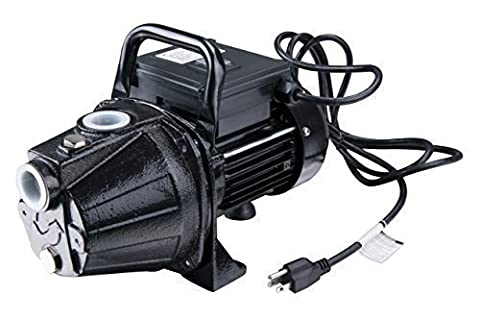 Lanchez JGP8005HT 1/2 HP 845GPH Portable Cast Iron Utility Shallow Well Jet Pump for Clean Water to 25 Feet by