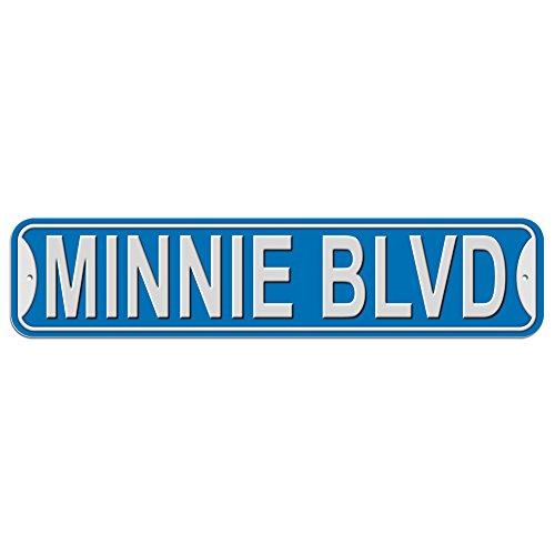 Minnie Schild–Kunststoff Wand Tür Street Road weiblich Name, plastik, blau, Boulevard