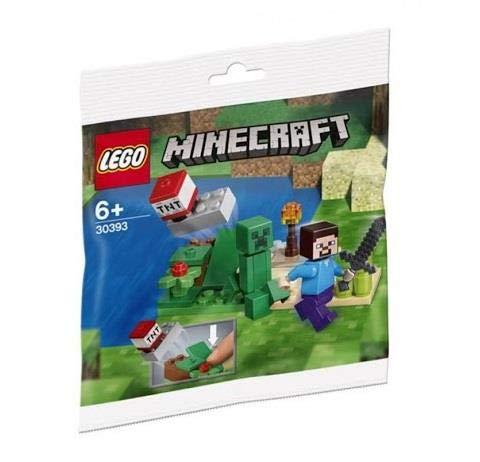 Lego Minecraft Steve und Creeper Polybag Set 30393 (Eingesackt) Spielzeug