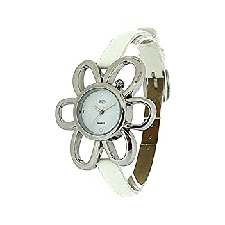 Eton 2763L White – Reloj para mujeres, correa de tela color blanco