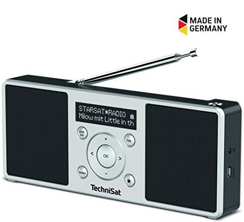 TechniSat Digitradio 1 S portables Stereo DAB+ Radio (klein, tragbar, mit Lautsprecher, DAB+, UKW, Favoritenspeicher, OLED-Display) schwarz/silber