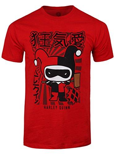 Harley Quinn T-shirt Chibi da uomo in rosso