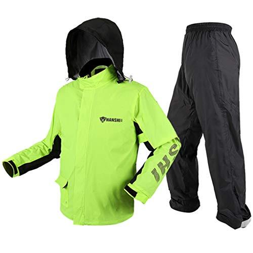 YXF-Regenjacken Motorrad-Regenbekleidung Wasserdichte Sportbekleidung für Damen Split-Regenbekleidung für Erwachsene Windbreaker-Hosenanzug für Herren zum Im Freien Reisen Laufen