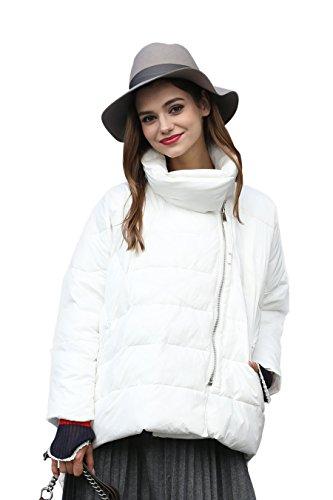 Abrigo blanco de plumas