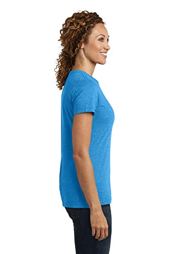 District Made Damen Perfect Blend Crew Tee Heathered Brown