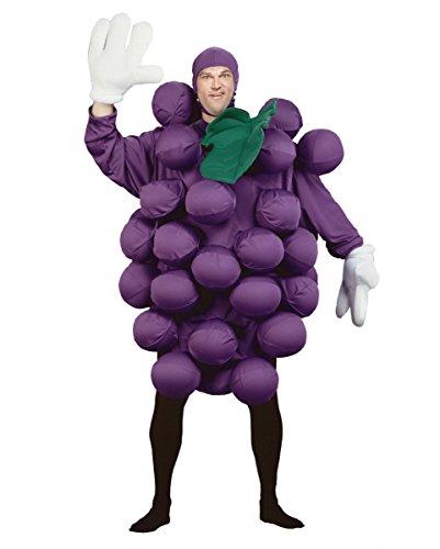 Lustiges lila Weintrauben-Rebe Deluxe Kostüm mit Luftballons für Fasching (Kostüm Mit Luftballons)