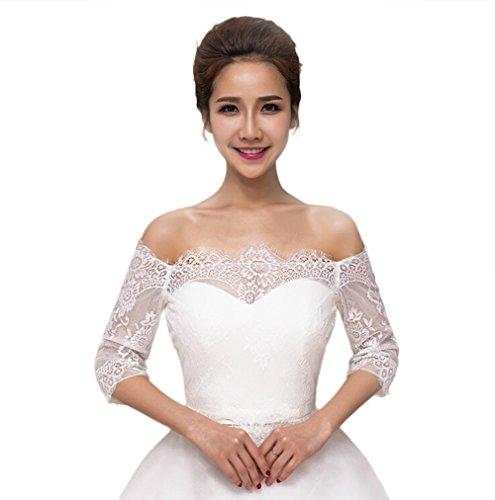 JUNGEN Braut Jacke Hochzeit Kleid Wrap Shawl Shrug Bolero Stola Bridal Umhang für Sommer Hochzeit...