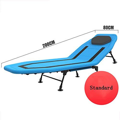 Standard-klappbett (Schlafsofas Brisk- Klappbett Individuell Bett Siesta Bett Büro Einfach Adult Lounge Chair Haushalt Multifunktions Camp Bett (Farbe : Standard Models-Blue))