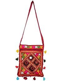 Heaven Arts And Craft BG-12D-1 Kachchi Mippar Cut Work Pocket Hand Bag Shoulder Bag