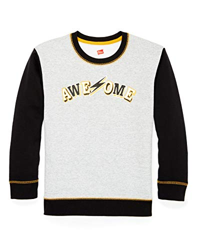 Hanes Boys Graphic Fleece Colorblocked Sweatshirt (D269) -Awesome -2XL Boys Graphic Fleece