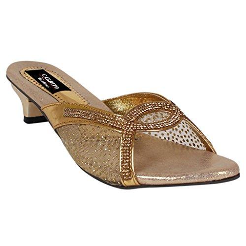 Carrito Women's Golden Heel Sandal