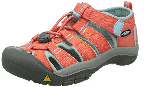 Keen Kinder Sandalen Trekking-Sandalen NEWPORT H2 Kids hot coral, Größe:30