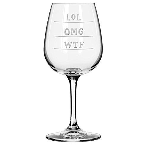 OMG – WTF – LOL Verre à vin à pied (311,8 gram)