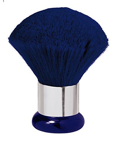 Nackenwedel Jumbo blau Ziegenhaar mit Silberring Kosmetikpinsel