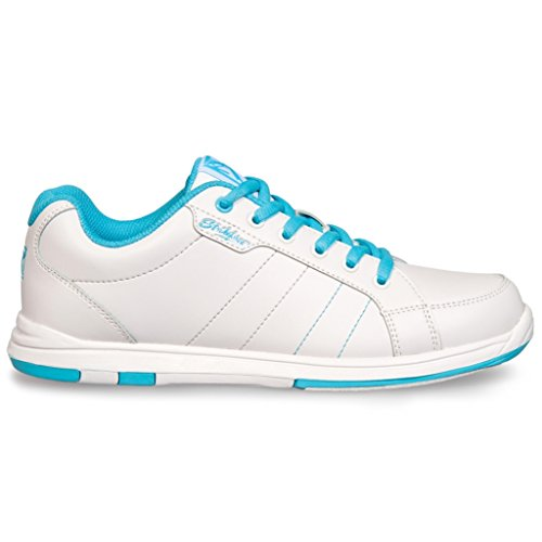 KR Strikeforce Satin Bowlingschuh für Damen weiß/aqua Gr. 39 / US 9